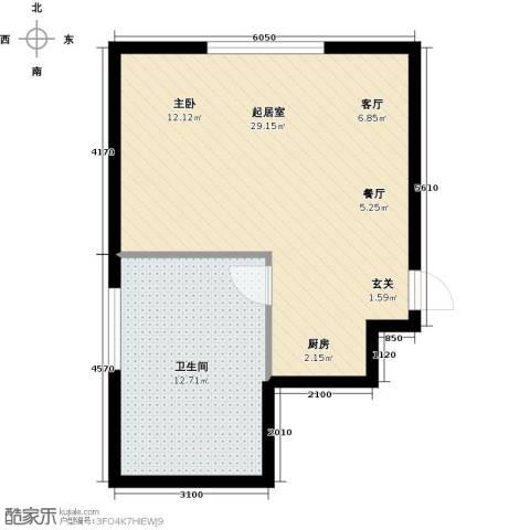 五龙温泉山庄1卫0厨58.00㎡户型图