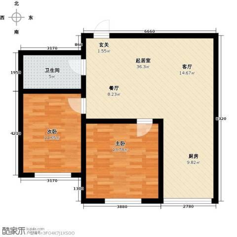 彩虹湾2室0厅1卫0厨94.00㎡户型图