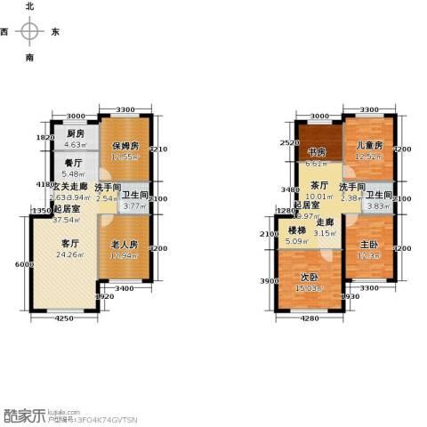 天福城5室0厅2卫1厨196.00㎡户型图