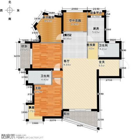 公园世家2室0厅2卫1厨151.00㎡户型图