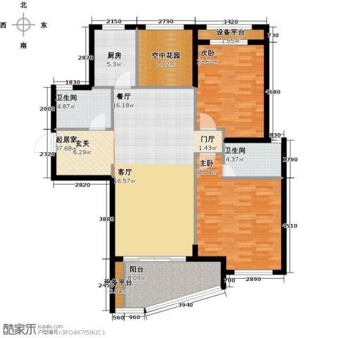 公园世家2室0厅2卫1厨142.00㎡户型图
