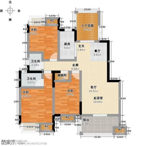 明发锦绣银山3室0厅2卫1厨132.00㎡户型图