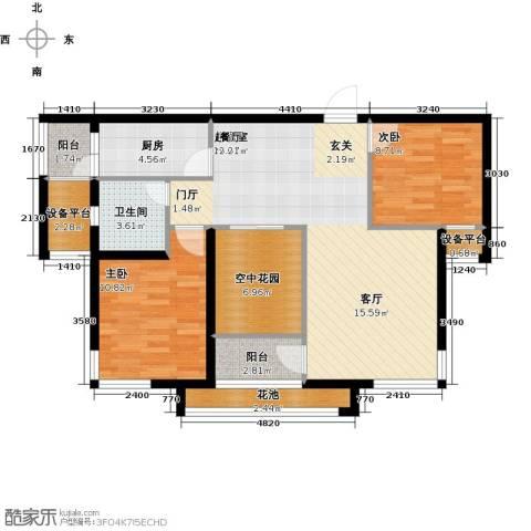 公园世家2室0厅1卫1厨106.00㎡户型图