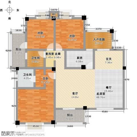 明发锦绣银山3室0厅2卫1厨139.00㎡户型图