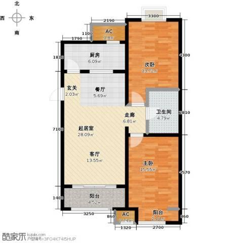 戴河海公园2室0厅1卫1厨107.00㎡户型图