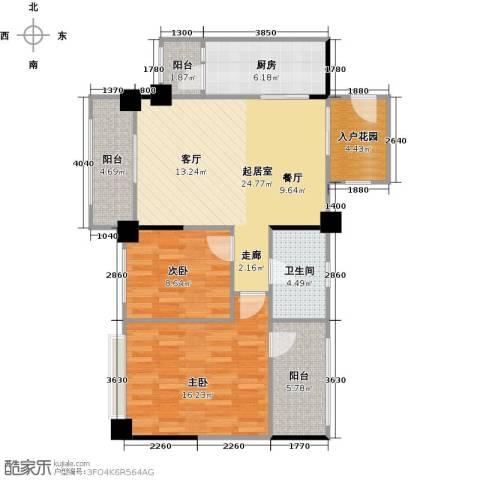 长兴99号公馆2室0厅1卫1厨88.00㎡户型图