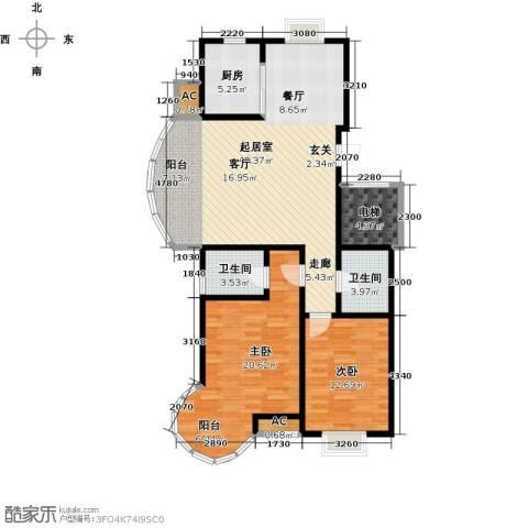 戴河海公园2室0厅2卫1厨130.00㎡户型图