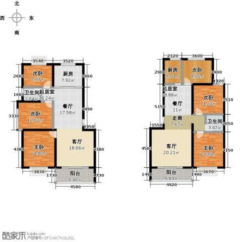 金马三区6室0厅2卫2厨250.00㎡户型图