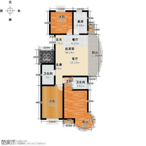 戴河海公园3室0厅2卫1厨142.00㎡户型图