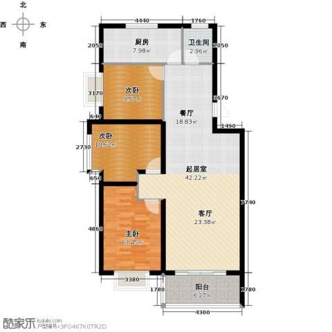 金马三区3室0厅1卫1厨104.00㎡户型图