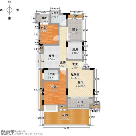 君山公馆2室0厅2卫1厨100.00㎡户型图