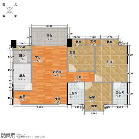 大自然广场2卫1厨96.00㎡户型图