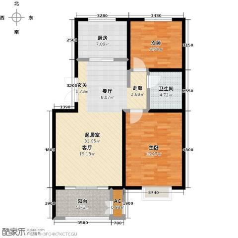 农房幸福小镇2室0厅1卫1厨107.00㎡户型图
