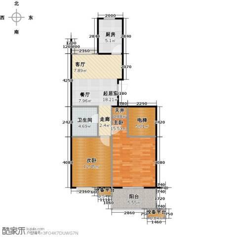 蔚海新天地2室0厅1卫1厨78.00㎡户型图