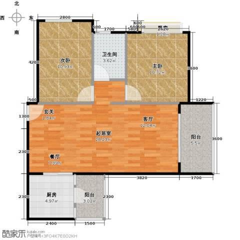 大自然广场2室0厅1卫1厨82.00㎡户型图