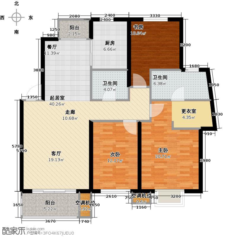 华亭国际125.00㎡G三室二厅二卫户型3室2厅2卫