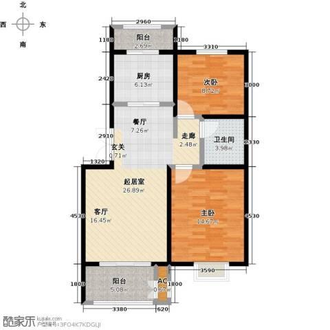 农房幸福小镇2室0厅1卫1厨98.00㎡户型图