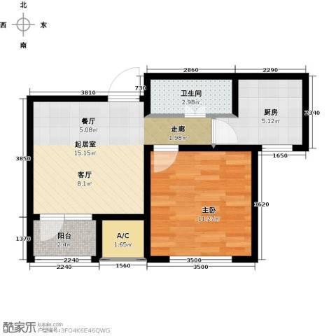 渤海天易园1室0厅1卫1厨56.00㎡户型图