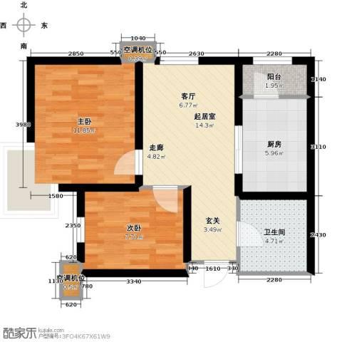 欧铂城2室0厅1卫1厨73.00㎡户型图