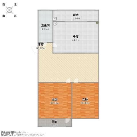 七里堡新居2室2厅1卫1厨277.00㎡户型图