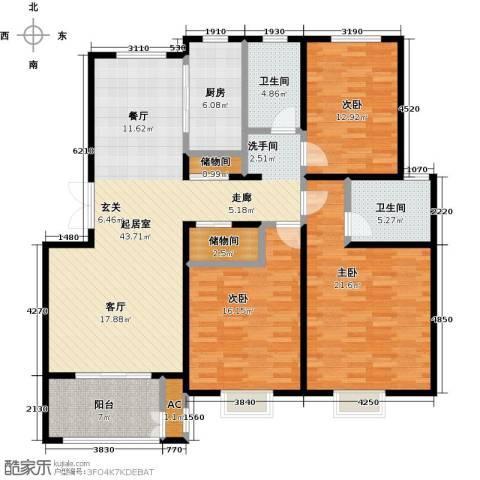 农房幸福小镇3室0厅2卫1厨172.00㎡户型图