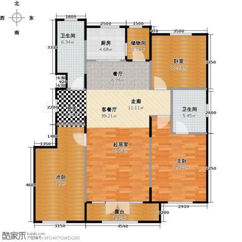 郡原・美村2室1厅2卫1厨123.00㎡户型图