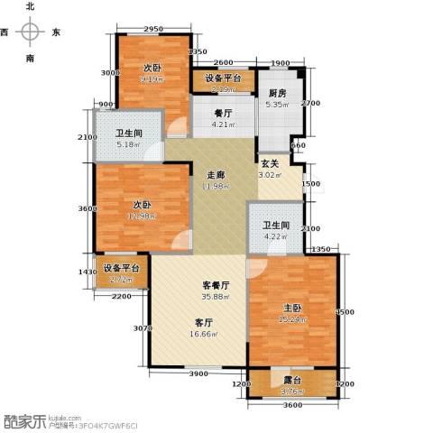 郡原・美村3室1厅2卫1厨112.00㎡户型图