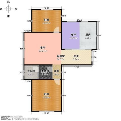 华海城1厅1卫0厨107.00㎡户型图