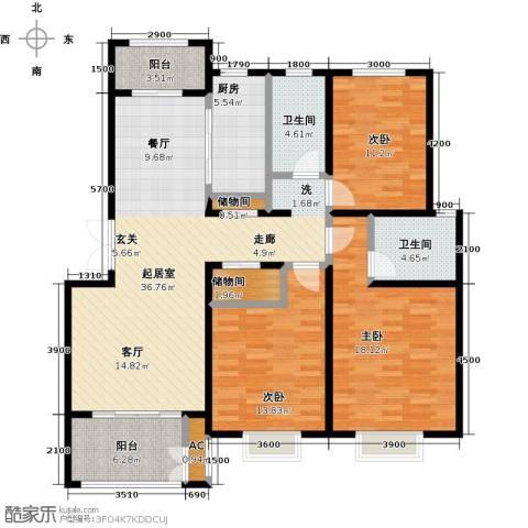 农房幸福小镇3室0厅2卫1厨154.00㎡户型图