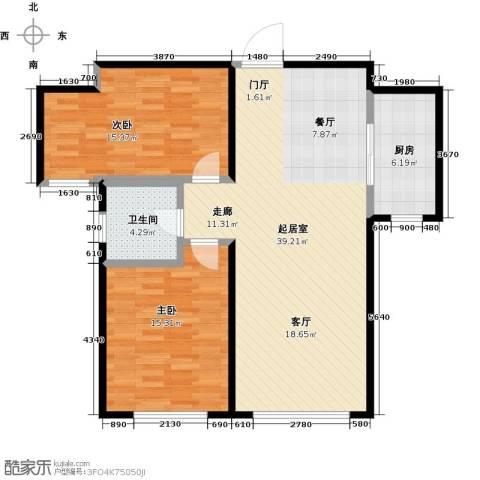 银海新城2室0厅1卫1厨112.00㎡户型图