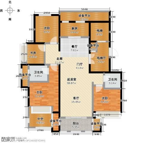 鼎旺大观4室0厅2卫1厨139.00㎡户型图
