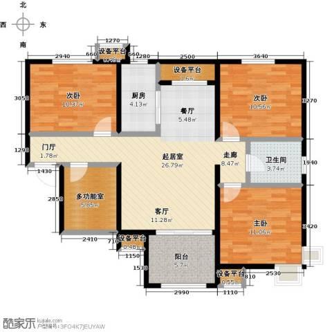 启新18893室0厅1卫1厨118.00㎡户型图