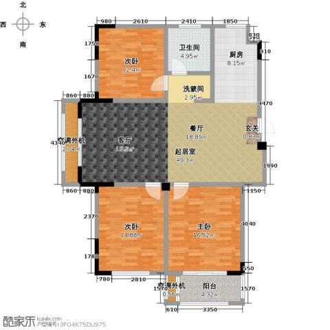 御景豪庭3室0厅1卫0厨120.00㎡户型图