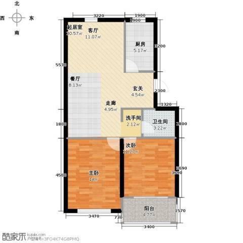 天福城2室0厅1卫1厨96.00㎡户型图
