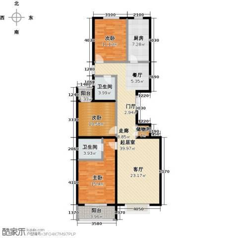 华丽家族3室0厅2卫1厨135.00㎡户型图