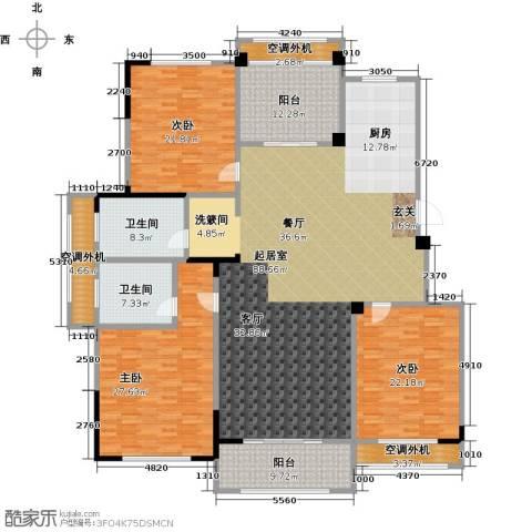 御景豪庭3室0厅2卫0厨230.00㎡户型图