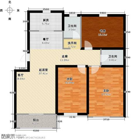 天福城3室0厅2卫1厨139.00㎡户型图