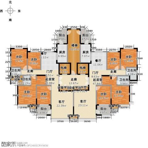 阿城恒大城8室0厅4卫2厨405.00㎡户型图