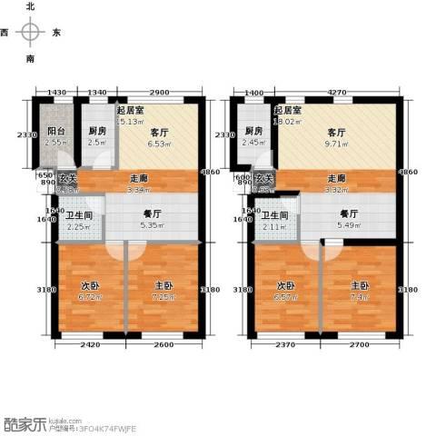 天福城4室0厅2卫2厨105.00㎡户型图