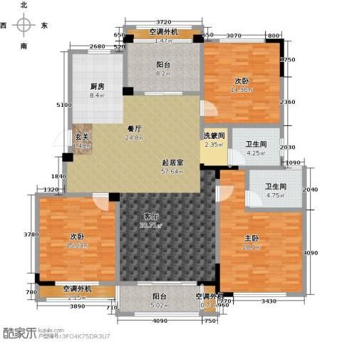 御景豪庭3室0厅2卫0厨150.00㎡户型图