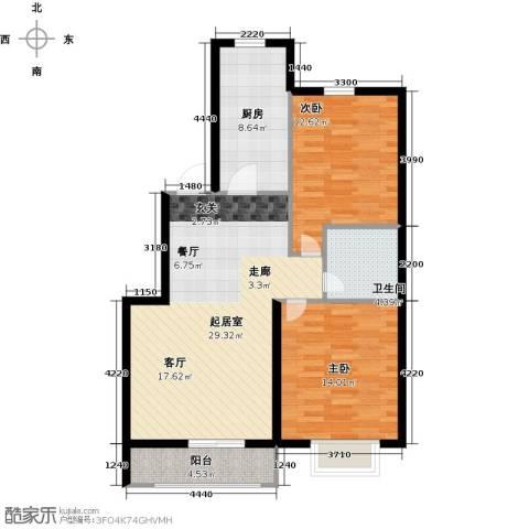 天福城2室0厅1卫1厨102.00㎡户型图