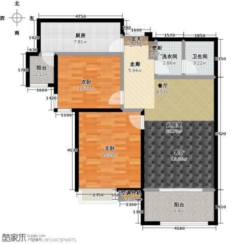 紫金华府2室0厅1卫1厨99.00㎡户型图