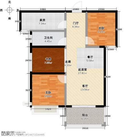 海港城3室0厅1卫1厨85.00㎡户型图