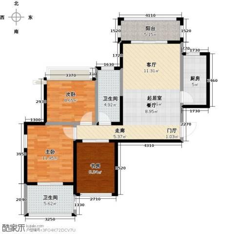 海港城3室0厅2卫1厨89.00㎡户型图