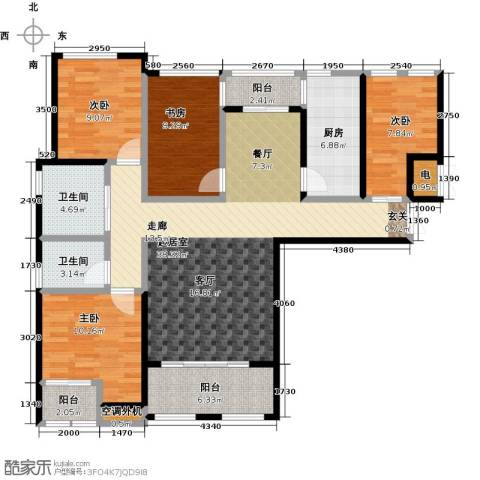紫金华府4室0厅2卫1厨125.00㎡户型图