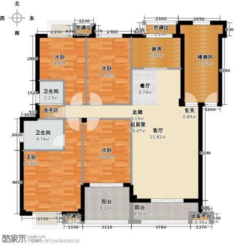瑞鑫花园4室0厅2卫1厨140.00㎡户型图