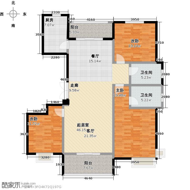 提香湾户型3室2卫1厨