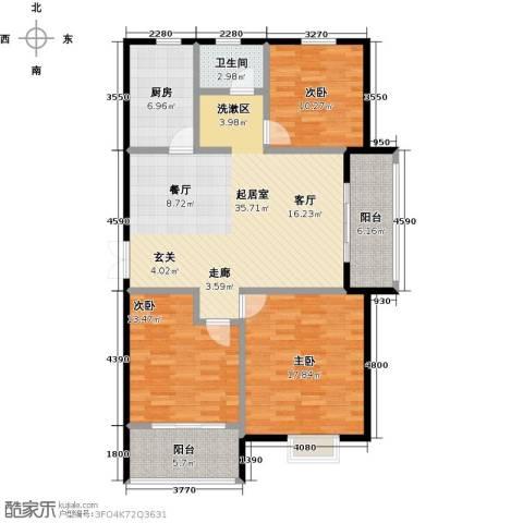 提香湾3室0厅1卫1厨139.00㎡户型图