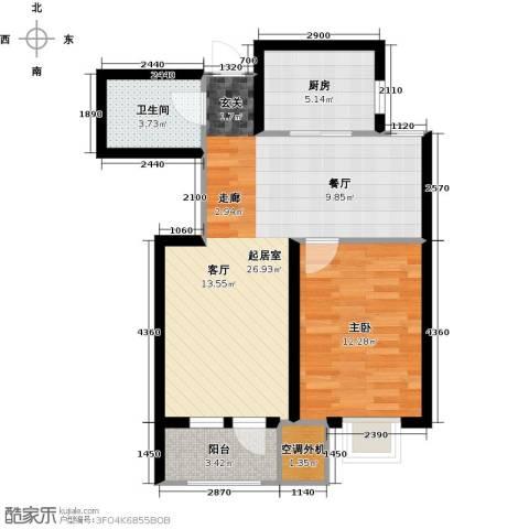欧铂城1室0厅1卫1厨80.00㎡户型图