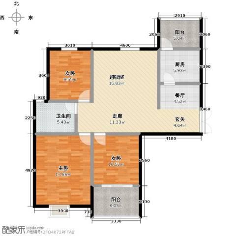 提香湾3室0厅1卫1厨135.00㎡户型图